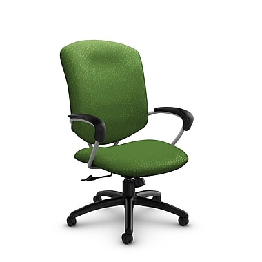 Global® (5330-4 MT27) Supra High Back Tilter Office Chair, Match Green Fabric, Green