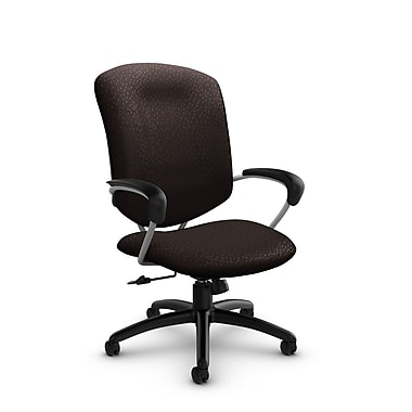 Global® (5330-4 MT28) Supra High Back Tilter Office Chair, Match Chocolate Fabric, Brown