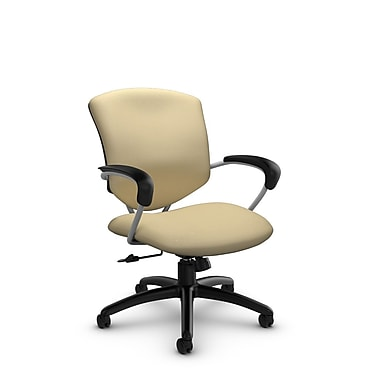 Global® (5331-4 IM70) Supra Mid Back Tilter Office Chair, Imprint Almond Fabric, Tan