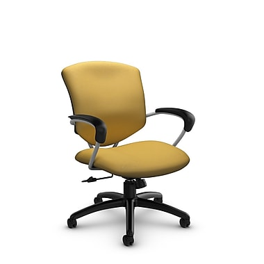 Global® (5331-4 IM73) Supra Mid Back Tilter Office Chair, Imprint Currie Fabric, Yellow