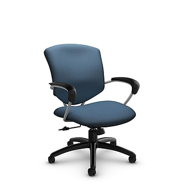 Global® (5331-4 IM75) Supra Mid Back Tilter Office Chair, Imprint Ocean Fabric, Blue