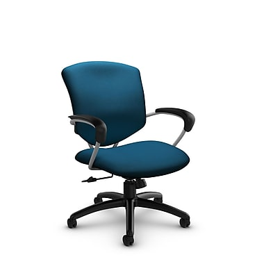 Global® (5331-4 IM76) Supra Mid Back Tilter Office Chair, Imprint Navy Fabric, Blue