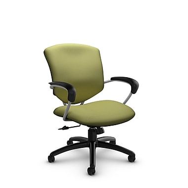Global® (5331-4 IM78) Supra Mid Back Tilter Office Chair, Imprint Celery Fabric, Green