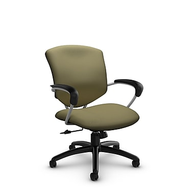 GlobalMD – Chaise de bureau basculante mi-dos Supra (5331-4 IM79), tissu imprimé origan, vert