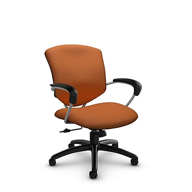 Global® (5331-4 IM81) Supra Mid Back Tilter Office Chair, Imprint Paprika Fabric, Orange