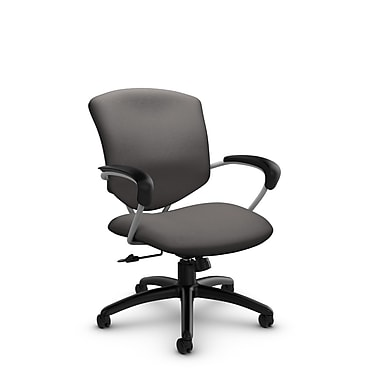 Global® (5331-4 IM82) Supra Mid Back Tilter Office Chair, Imprint Graphite Fabric, Grey