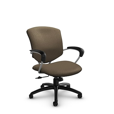 Global® (5331-4 MT21) Supra Mid Back Tilter Office Chair, Match Sand Fabric, Brown