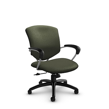 Global® (5331-4 MT22) Supra Mid Back Tilter Office Chair, Match Moss Fabric, Green