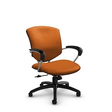 Global® (5331-4 MT23) Supra Mid Back Tilter Office Chair, Match Orange Fabric, Orange