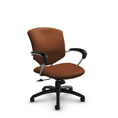 Global® (5331-4 MT24) Supra Mid Back Tilter Office Chair, Match Sunset Fabric, Orange