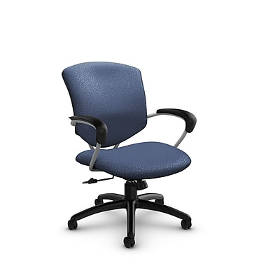 Global® (5331-4 MT25) Supra Mid Back Tilter Office Chair, Match Blue Fabric, Blue