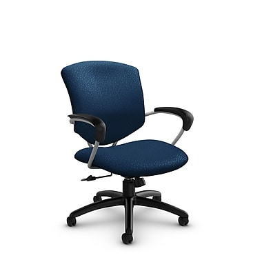 Global® (5331-4 MT26) Supra Mid Back Tilter Office Chair, Match Wave Fabric, Blue