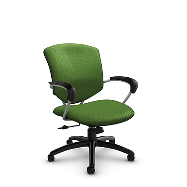 Global® (5331-4 MT27) Supra Mid Back Tilter Office Chair, Match Green Fabric, Green