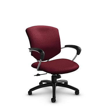 Global® (5331-4 MT29) Supra Mid Back Tilter Office Chair, Match Burgundy Fabric, Red
