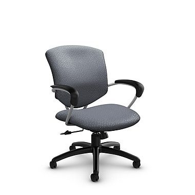 Global® (5331-4 MT30) Supra Mid Back Tilter Office Chair, Match Grey Fabric, Grey