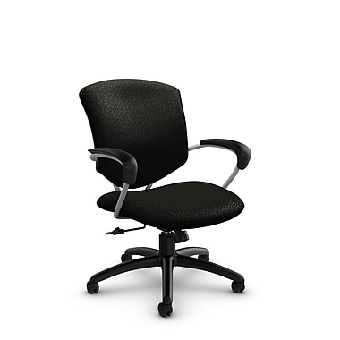 Global® (5331-4 MT32) Supra Mid Back Tilter Office Chair, Match Black Fabric, Black