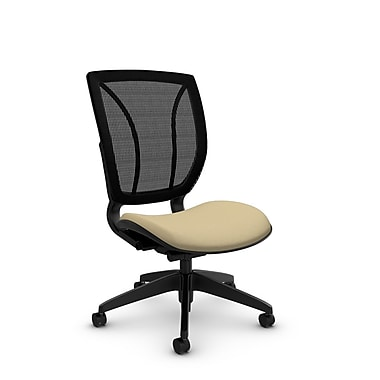 Global® (1901 IM70 MB) Roma Armless Posture Office Chair, Imprint Fabric
