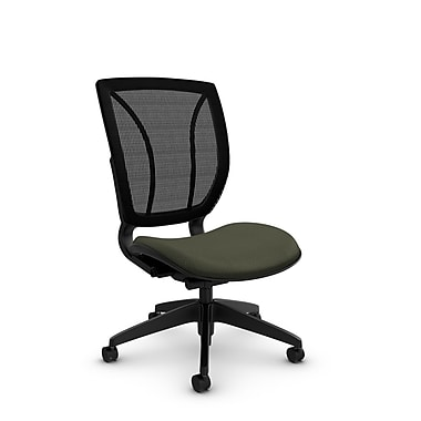Global® (1901 MT22 MB) Roma Armless Posture Office Chair, Match Moss Fabric, Green