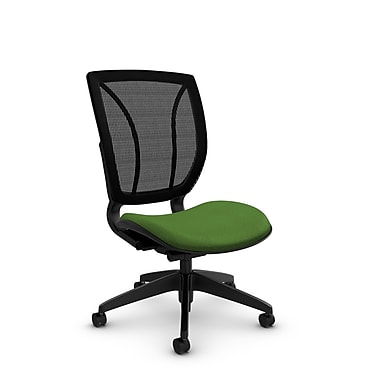 Global® (1901 MT27 MB) Roma Armless Posture Office Chair, Match Green Fabric, Green