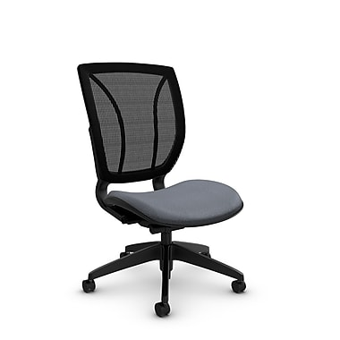 Global® (1901 MT30 MB) Roma Armless Posture Office Chair, Match Grey Fabric, Grey