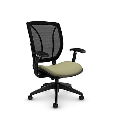 Global® (1906 IM77 MB) Roma Posture with Arms Office Chair, Imprint Green Tea Fabric, Green
