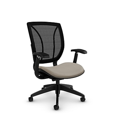 Global® (1906 MT20 MB) Roma Posture with Arms Office Chair, Match Desert Fabric