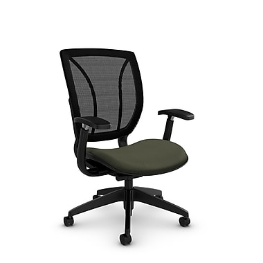 Global® (1906 MT22 MB) Roma Posture with Arms Office Chair, Match Moss Fabric, Green