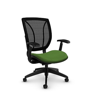 Global® (1906 MT27 MB) Roma Posture with Arms Office Chair, Match Green Fabric, Green