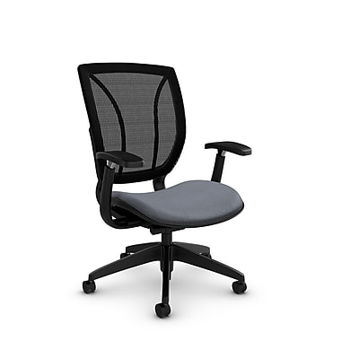 Global® (1906 MT30 MB) Roma Posture with Arms Office Chair, Match Grey Fabric, Grey