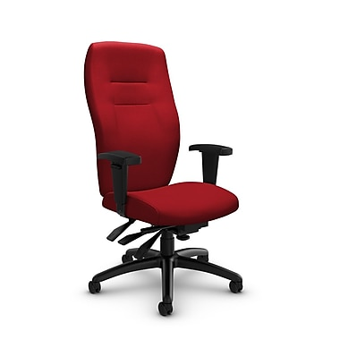 Global® (5080-3 IM74) Synopsis High Back Multi Tilter Office Chair, Imprint Candy Apple Fabric, Red
