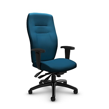 Global® (5080-3 IM76) Synopsis High Back Multi Tilter Office Chair, Imprint Navy Fabric, Blue