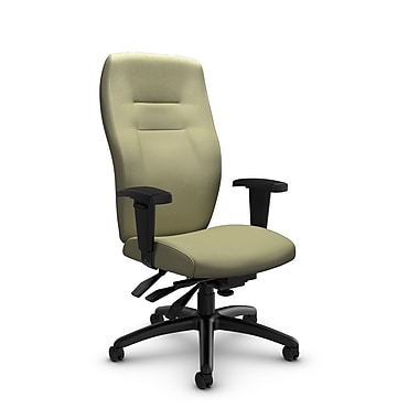 Global® (5080-3 IM77) Synopsis High Back Multi Tilter Office Chair, Imprint Green Tea Fabric, Green