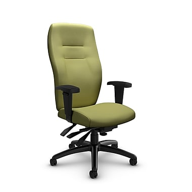 Global® (5080-3 IM78) Synopsis High Back Multi Tilter Office Chair, Imprint Celery Fabric, Green