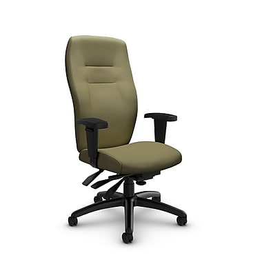Global® (5080-3 IM79) Synopsis High Back Multi Tilter Office Chair, Imprint Oregano Fabric, Green