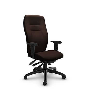 Global® (5080-3 IM80) Synopsis High Back Multi Tilter Office Chair, Imprint Walnut Fabric, Brown