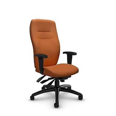 Global® (5080-3 IM81) Synopsis High Back Multi Tilter Office Chair, Imprint Paprika Fabric, Orange