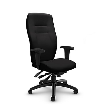 Global® (5080-3 IM84) Synopsis High Back Multi Tilter Office Chair, Imprint Licorice Fabric, Black