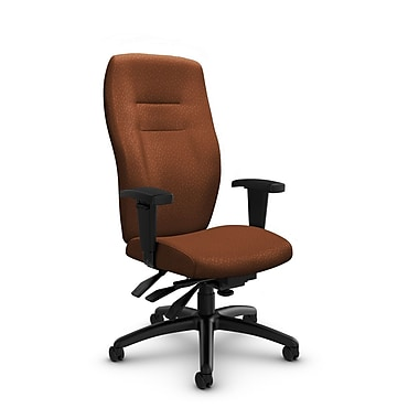 Global® (5080-3 MT24) Synopsis High Back Multi Tilter Office Chair, Match Sunset Fabric, Orange