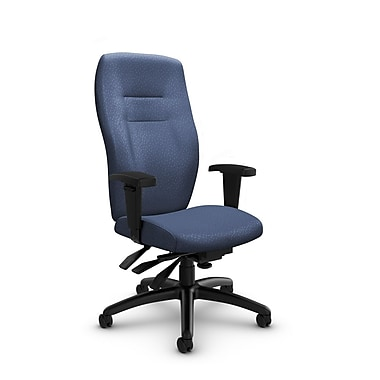 Global® (5080-3 MT25) Synopsis High Back Multi Tilter Office Chair, Match Blue Fabric, Blue