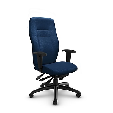 Global® (5080-3 MT26) Synopsis High Back Multi Tilter Office Chair, Match Wave Fabric, Blue