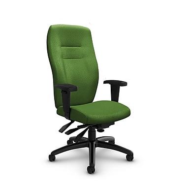 GlobalMD – Fauteuil à dossier haut à inclinaison multiple Synopsis (5080-3 MT27), tissu Match vert, vert