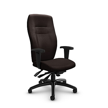 Global® (5080-3 MT28) Synopsis High Back Multi Tilter Office Chair, Match Chocolate Fabric, Brown