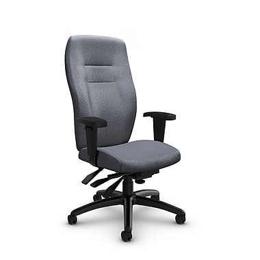 Global® (5080-3 MT30) Synopsis High Back Multi Tilter Office Chair, Match Grey Fabric, Grey