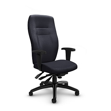 Global® (5080-3 MT31) Synopsis High Back Multi Tilter Office Chair, Match Quarry Fabric, Grey