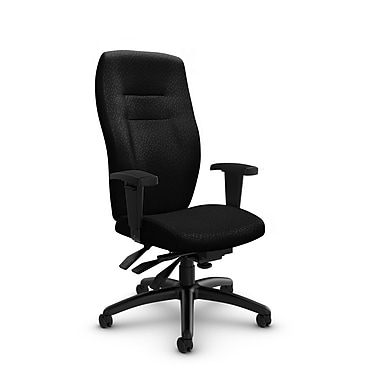 Global® (5080-3 MT32) Synopsis High Back Multi Tilter Office Chair, Match Black Fabric, Black