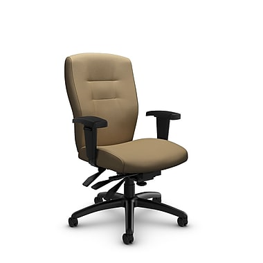 Global® (5081-3 IM71) Synopsis Mid Back Multi Tilter Office Chair, Imprint Cork Fabric, Tan