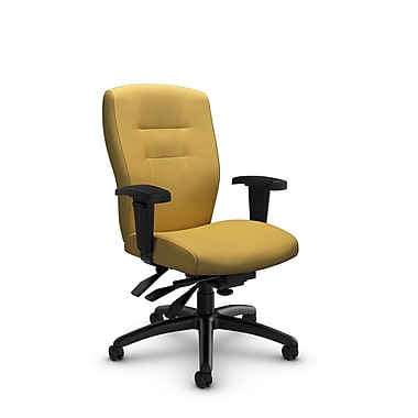Global® (5081-3 IM73) Synopsis Mid Back Multi Tilter Office Chair, Imprint Currie Fabric, Yellow