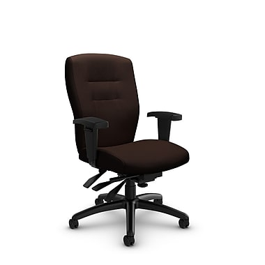 Global® (5081-3 IM80) Synopsis Mid Back Multi Tilter Office Chair, Imprint Walnut Fabric, Brown