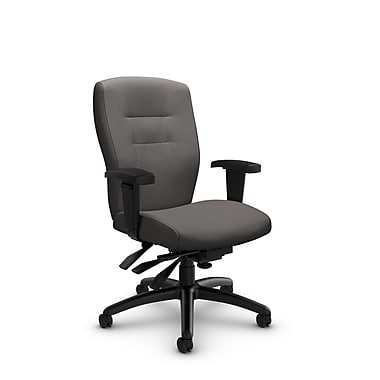 Global® (5081-3 IM82) Synopsis Mid Back Multi Tilter Office Chair, Imprint Graphite Fabric, Grey