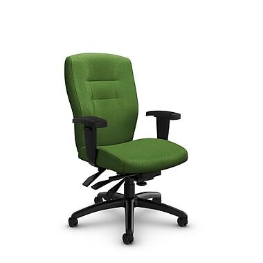 GlobalMD – Chaise de bureau à dossier mi-dos et inclinable Synopsis (5081-3 MT27) tissu assorti, vert
